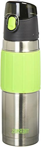 Thermos 18 Ounce Stainless Steel Hydration Bottle, Lime Gree