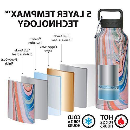 Healthy Human Stainless Steel Vacuum Insulated | Hours, Hours | Walled Water Bottle | oz Blossom