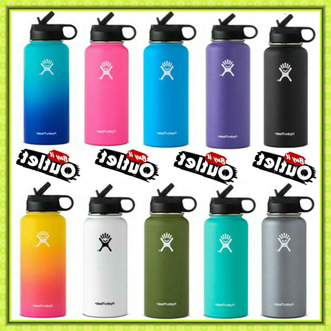 Hydro Flask Stainless Steel Water Bottle 18oz Thermos Straw