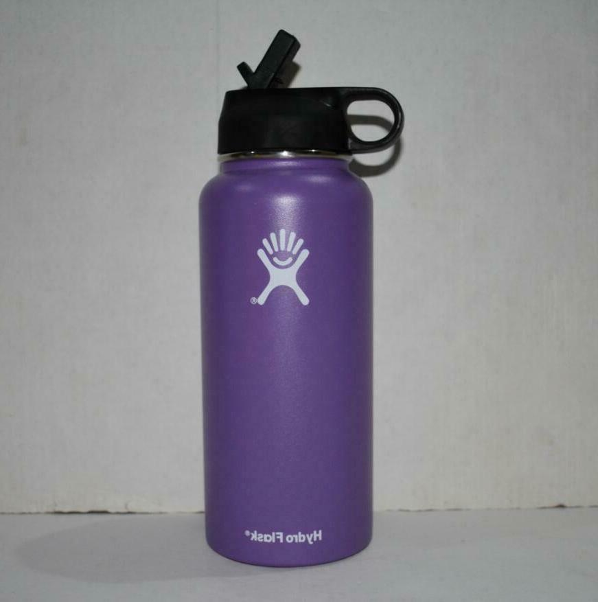 stainless steel water bottle insulated purple 32oz