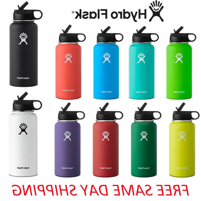 Hydro Flask Stainless Steel Water Bottle Thermos Straw Lid D