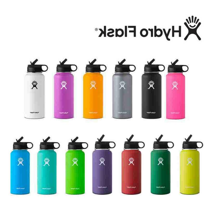 Hydro Flask Stainless Steel Water Bottle With Straw Lid Drin