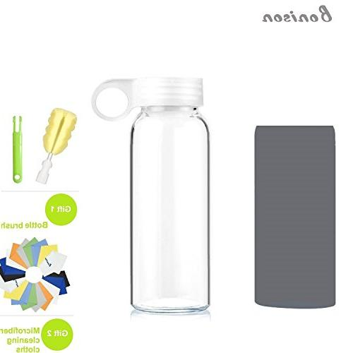 Glass Bottle Soft Colorful Sleeve Handle Lid