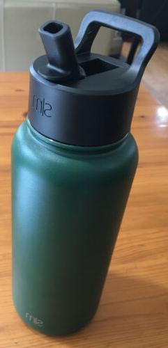 Simple Modern Summit Water Bottle with Straw Lid, Hunter, 32