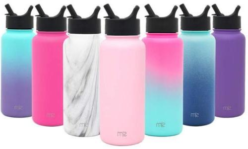 summit water bottle with straw lid wide