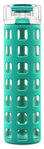 Ello Syndicate 20 oz Glass Water Bottle, Mint, 20 oz.