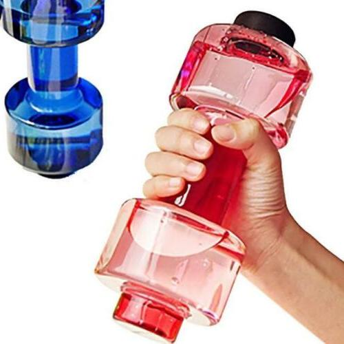 Travel Dumbbell Cup Sport Fitness Water Drink Bottle Gym Exe
