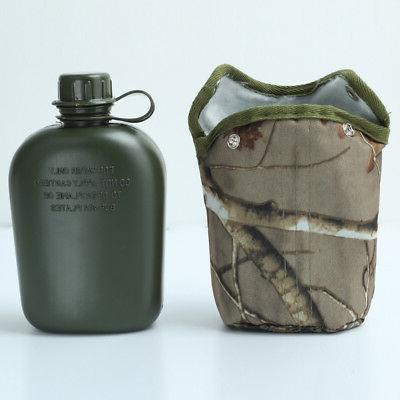 Army Military Canteen Hydration Water Bottle Kettle Outdoor
