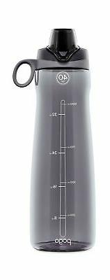 Pogo BPA-Free Plastic Water Bottle with Chug Lid, 40 oz, Gre
