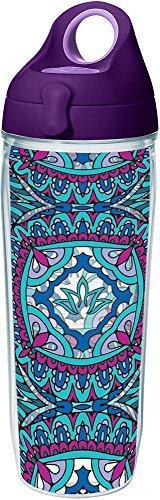 Tervis 1239694 Kaleidoscope Yoga Lotus Insulated Tumbler wit