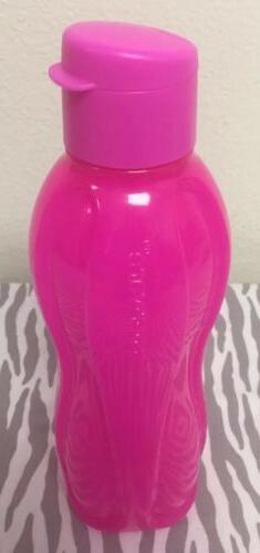 Tupperware Eco Water Bottle 32oz Neon Pink New