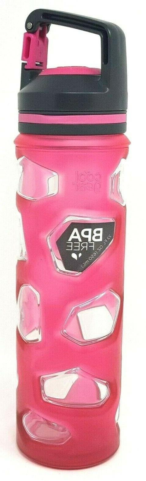 Cool Gear Twist to Chug Reusable Plastic Water Bottle BPA Fr