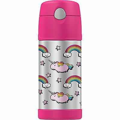 UNICORN RAINBOW FUNTAINER Thermos 12 Oz Insulated Water Bott
