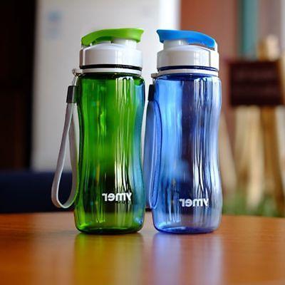 US Men Women Sports Water Bottle Running Travel LeakProof Bottle