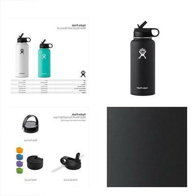Hydro Flask Wide Mouth Bottle With Straw Lid, Size One Size