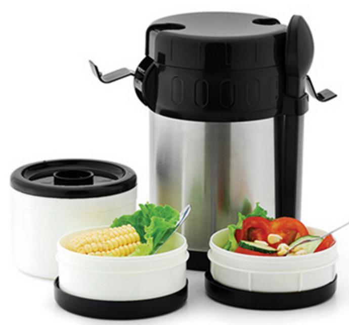 Vacuum Stainless Steel Food Jug Flask Jar Wide Mouth 2-Litte