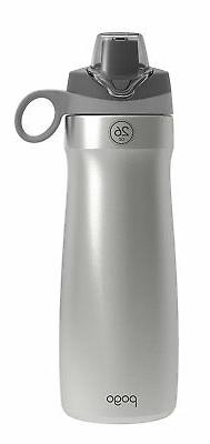 Pogo 26oz Stainless Steel Water Bottle with Silicone Straw
