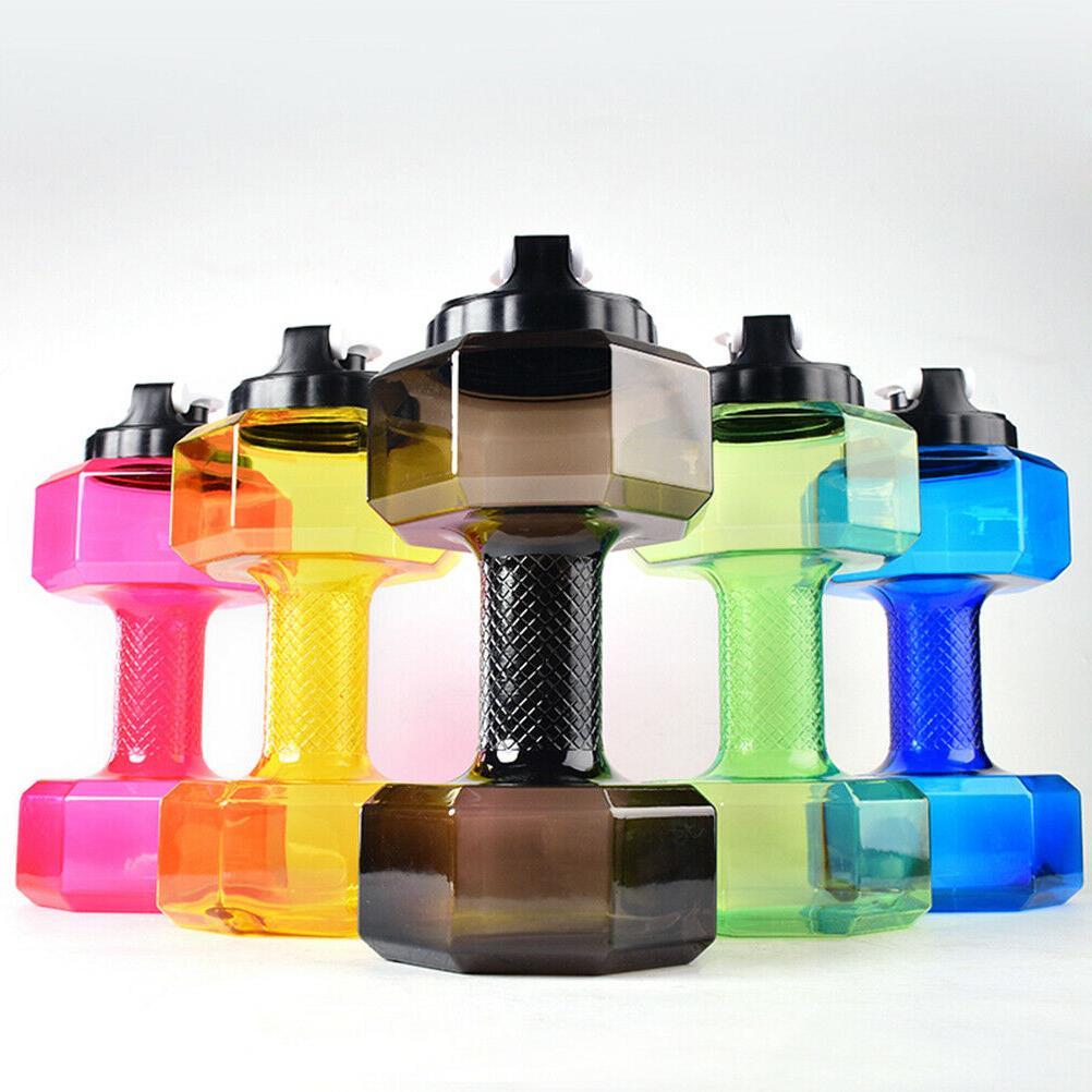 2.2L Dumbbell Shaped Sports Water Bottle Kettle Fit Drink Ex