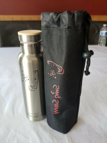 water bottle 20oz stainless steel new open