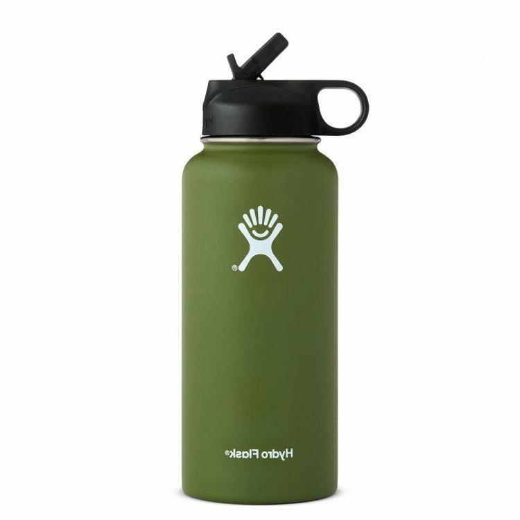 Hydro Flask Water 40oz- Vacuum Straw Lid Proof