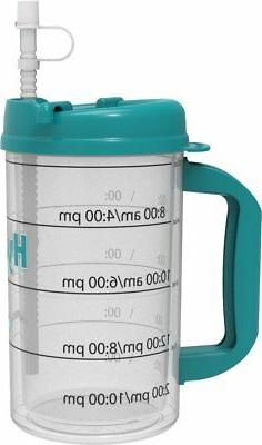 90ab604bb5 Hydr-8 Water Bottle - Time Marked Air Insulated 32 Ounce Mug