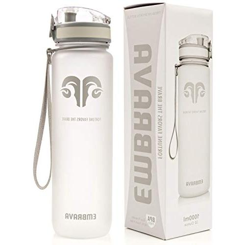 870f2ec97 Embrava Best Sports Water Bottle - 32oz Large