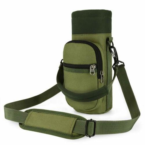 Water Bottle Cage Holder Pouch with Adjustable Shoulder/Hand