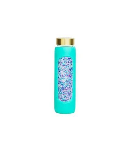 water bottle la playa print glass limited