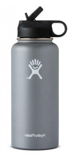 Hydro Flask 40oz  Water Bottle Wide Mouth With Straw Lid wit