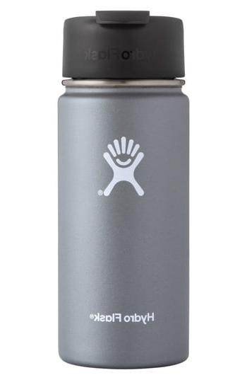 Hydro Flask Wide Mouth Coffee Thermos With Flip Lid, Size On