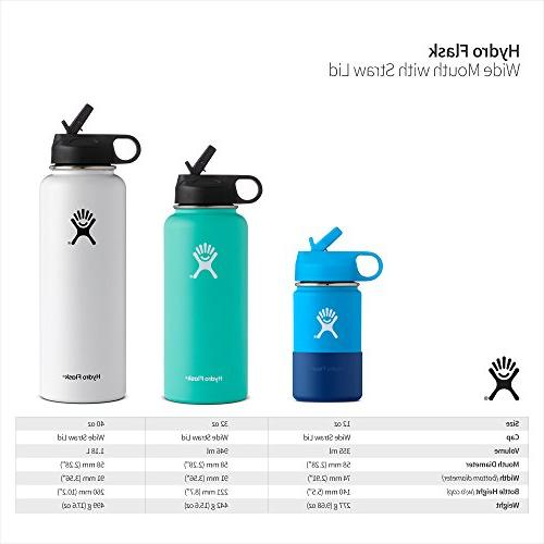 Hydro Flask 12 oz Kids Sippy Double Vacuum Insulated Sports Mouth Straw Silicone Boot,