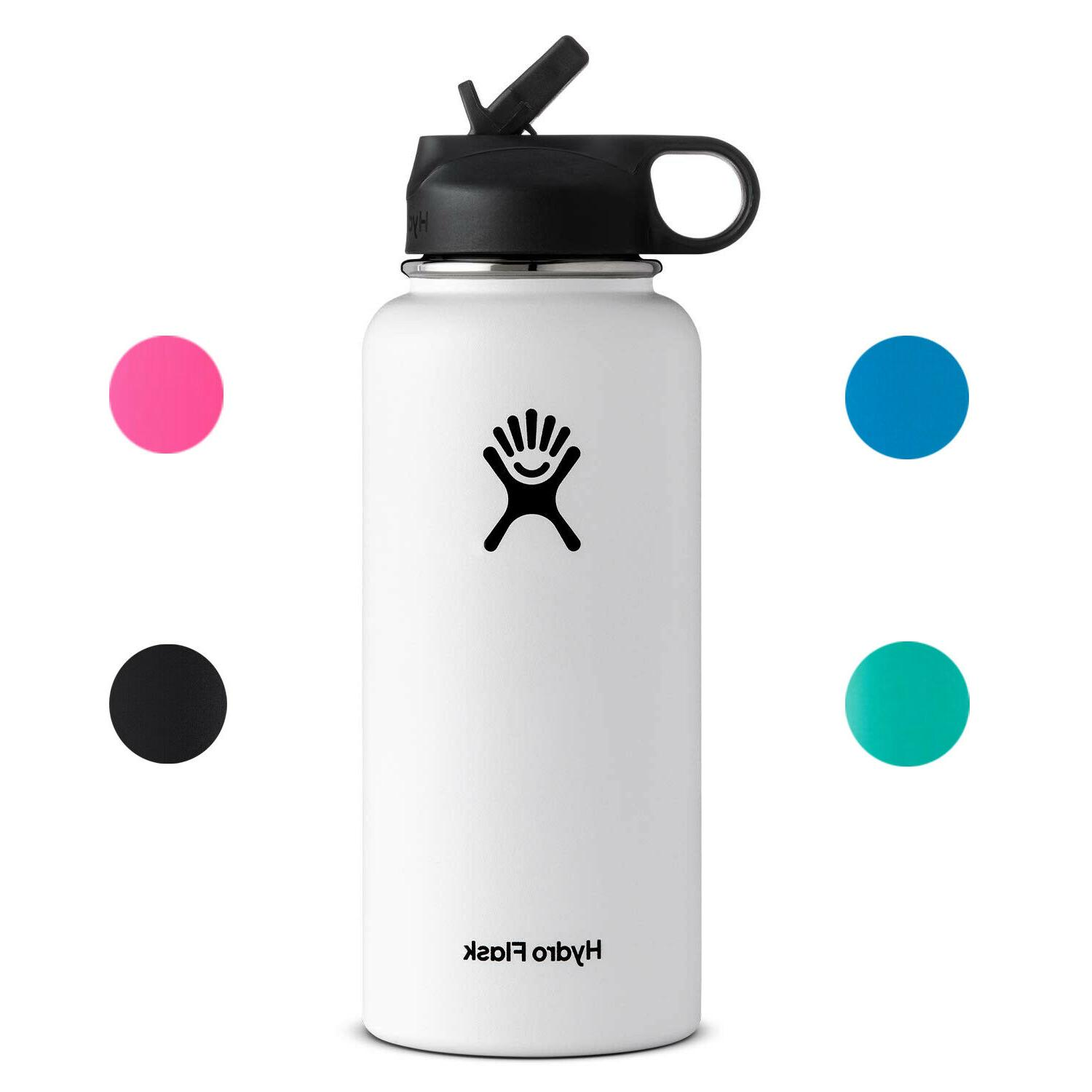 wide mouth vacuum water bottle with flex