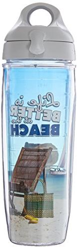 """TERVIS """"Life is Better at The Beach"""" Wrap Water Bottle with"""