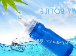 Leak Proof Filter Water Bottle Sports Gym Drinking Bottles w