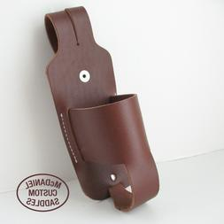 Leather Drink Bottle Can Holster-Saddle horn/Bike Accessory