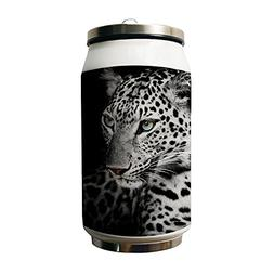 Kdnsgfds Leopard Animal Design Double Vacuum Insulated Stain