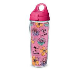 Life is Good. Tervis 24OZ Water Bottle: Floral Pattern