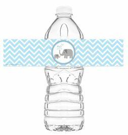 Little Elephant Blue Bottle Wraps - Set Of 20 - Baby Shower