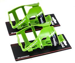 Lot of 2 Vision Trimax Bicycle Bike Water Bottle Cage Lime G