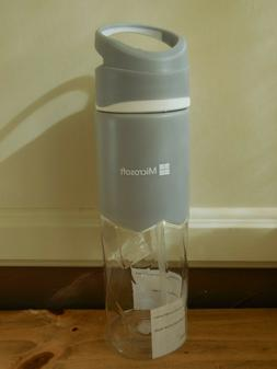 Microsoft Plastic Travel Water Bottle Tritan Gray Clear with