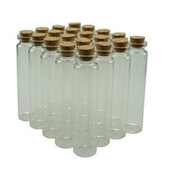 25ml Small Mini Glass Bottles Sample Jars with Cork Stoppers