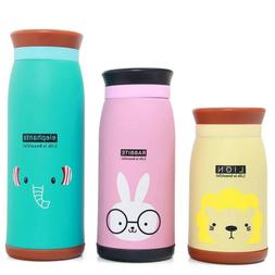 Mini Vacuum Mug Cute Cat Kid Thermos Stainless Steel Hot Wat