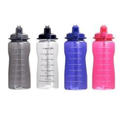 Motivational Water Bottle 2.2L/64oz Half Gallon Jug with Tim