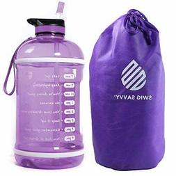 Swig Savvy Motivational Water Bottle Water Tracker Bottle Wi