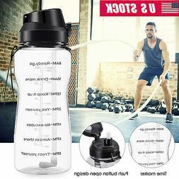 Motivational Water Bottles 2.2L/64oz Half Gallon Jug with St