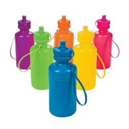 Fun Express Neon Sport Water Bottles  - Bulk