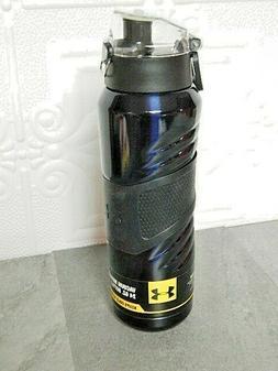 8b6d45893e NEW Under Armour 24 oz Insulated Vacuum Water Bottle UA Dark