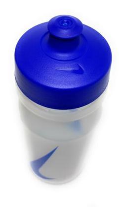 New NIKE Big Mouth Water Bottle 22 Oz/ .65 Liter Clear / Blu