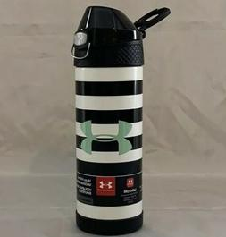 New Under Armour Black/White 16 oz Vacuum Insulated Bottle W