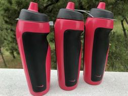 NEW Lot of 3 NIKE Pink Black Water Bottles Sports Hydration